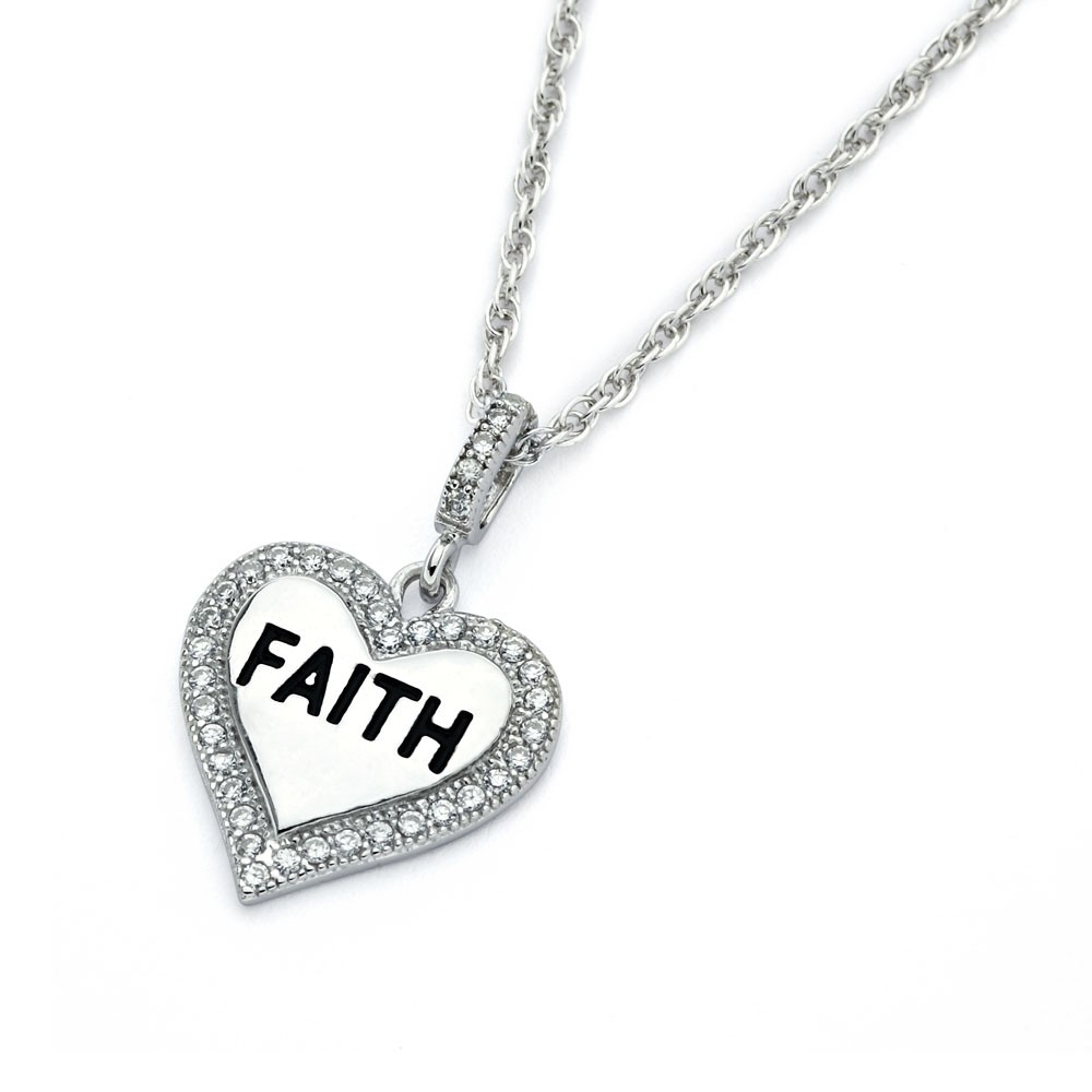 "Sterling Silver ""Faith"" Pendant"